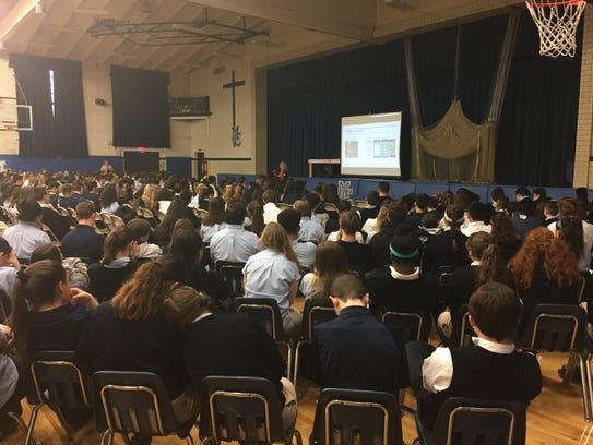 Verizon executive Mary Beth Hall delivers the keynote