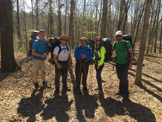 Our Ridge Runner Trail hiking crew, from left, Brett