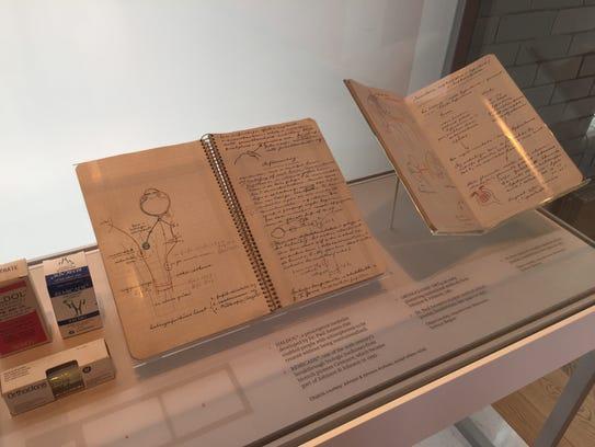 Notebooks written by scientist Paul Janssen, founder