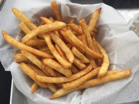 French fries at Big Grove Brewery and Taproom in Iowa