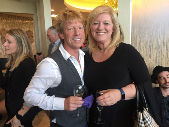 Pop Shop co-owner Connie Correia, with guest Eric Wells, enjoy the reception at the Garden State Culinary Arts Awards.