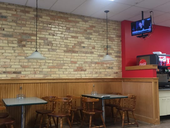 Interior of Red Burrito Fresh Mex Grill, May 11, 2017.