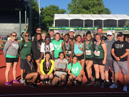 The West Salem girls team placed second in the OSAA