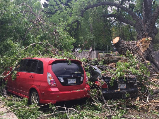 Two vehicles owned by Zak Hart of Fort Collins were