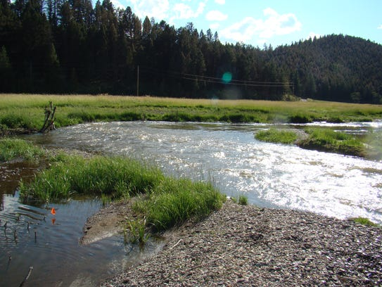 This section of Nevada Creek on private land, a tributary