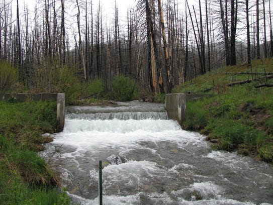 Before Snowbank Creek on the Blackfoot River was improved,