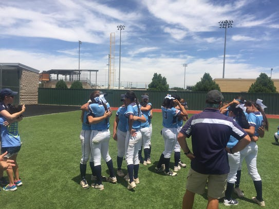 The Chapin softball team gathers one final time this