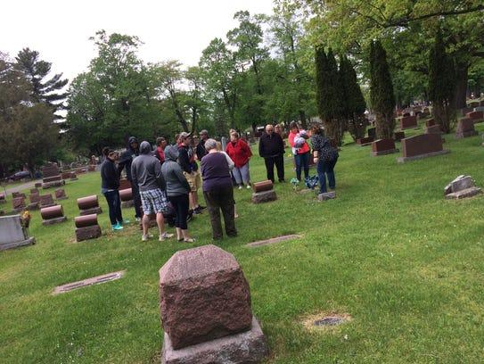 More than a dozen members of the Kaminiski family gathered