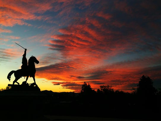 Thomas Meagher gallops into the sunset in Helena
