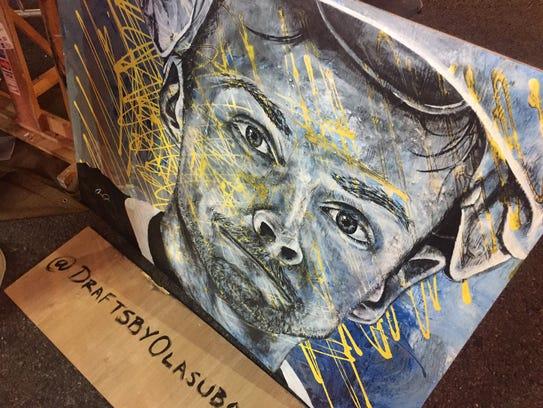 Local artist Olasubomi Aka-Bashorun completed this