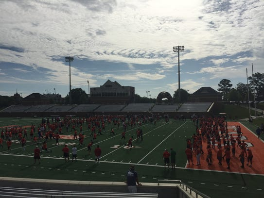 Michigan football satellite camp at Mercer University