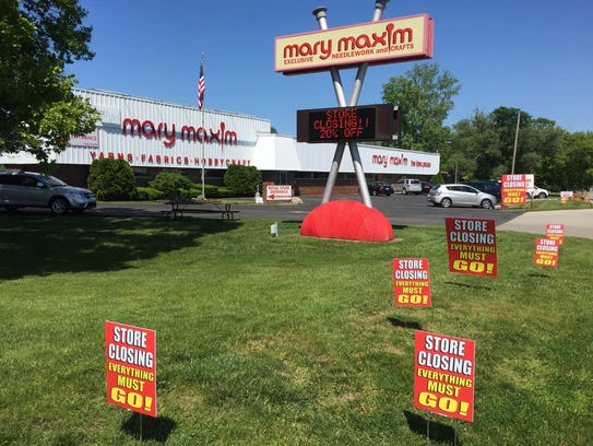 While the retail store is closing, Mary Maxim will
