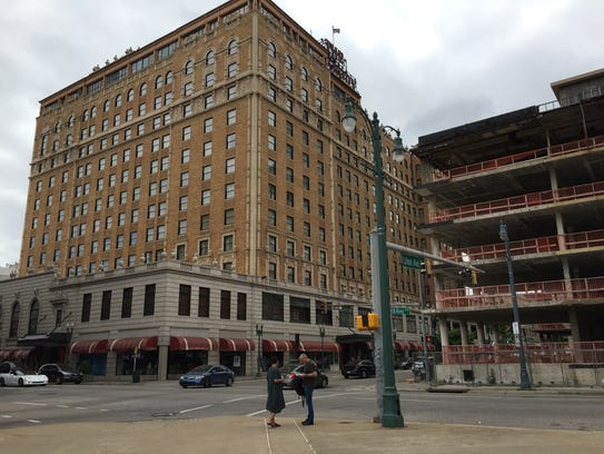 The former Benchmark Hotel site has for years sat unused across from The Peabody in Downtown Memphis.