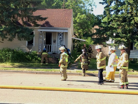 Fire crews respond to a fire that damaged a home Tuesday