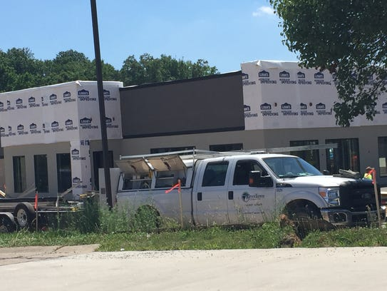 Construction on a Starbucks just west of Evansville