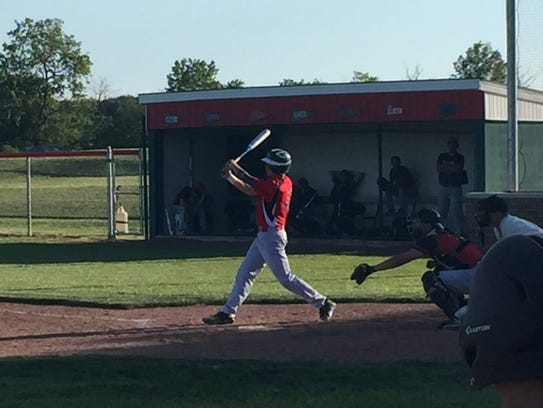 Oak Harbor Post 114's Jake St. Clair had three singles
