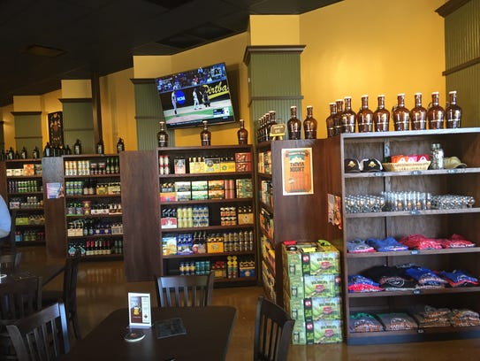 The retail area at the new Casual Pint location in