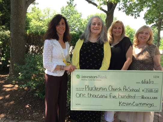 A $1,500 check was recently presented to the Pluckemin