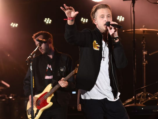 Ryan Tedder, right, and Brent Kutzle of One Republic.