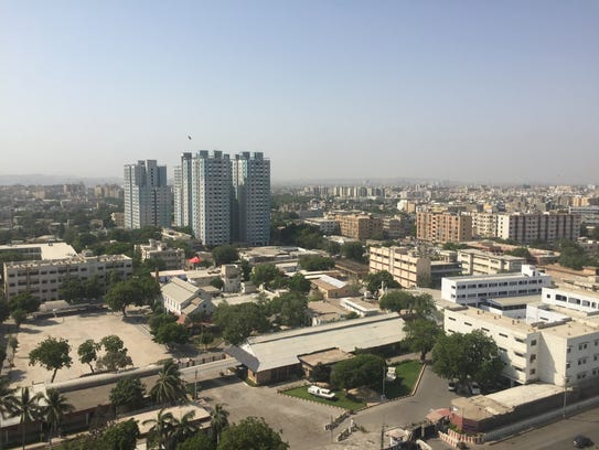 Some of highrises in Karachi, Pakistan.