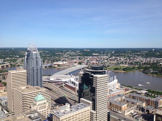View from Carew Tower Observation Deck.