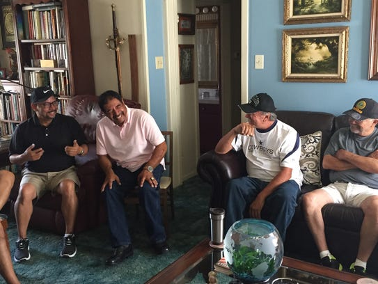 Johnny Silvas, Gonzalo Perez, and Raul Munoz laugh