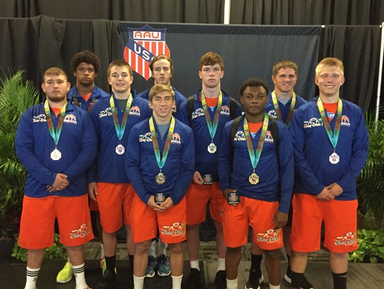 Genoa's team finished 12th at the AAU national wrestling
