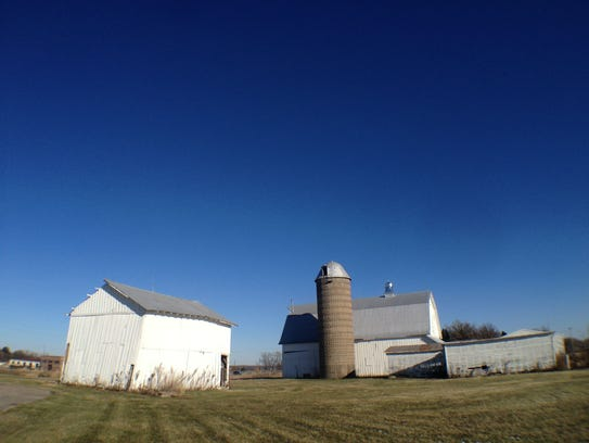 The historic Johnson County Poor Farm is pictured in