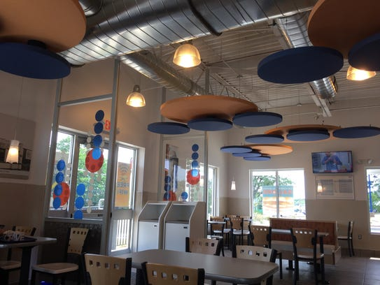 The inside of the reopened White Castle in Green Brook.
