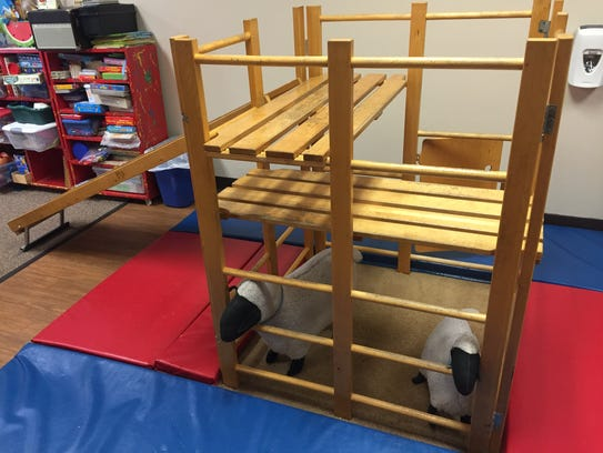 This play set has been in Sandy Tam's classroom for