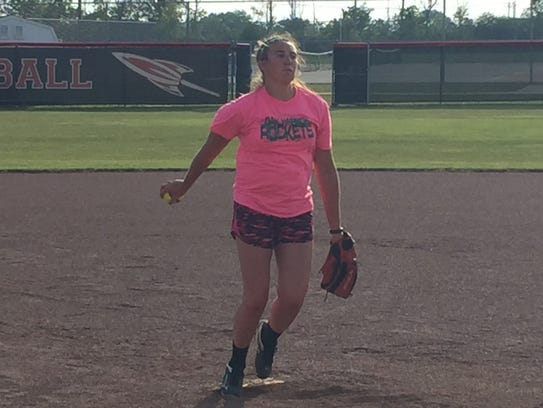 Oak Harbor pitcher Ashley Riley wants to improve.