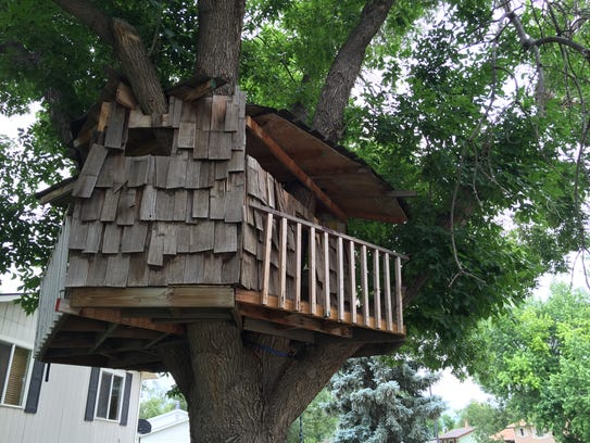 A treehouse in the Lexington Green subdivision.