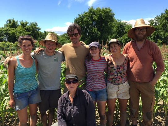 The Pitchfork Farm work crew on the Fourth of July.