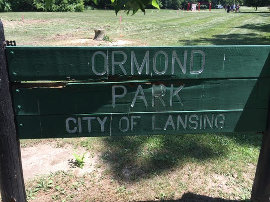 Crews began Thursday removing trees from Ormond Park.