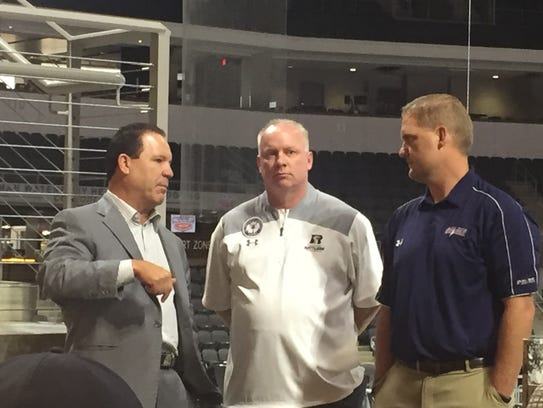 Arizona Rattlers owner Ron Shurts, coach Kevin Guy