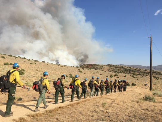 An image from the Aspen Fire in Palomino Valley, which