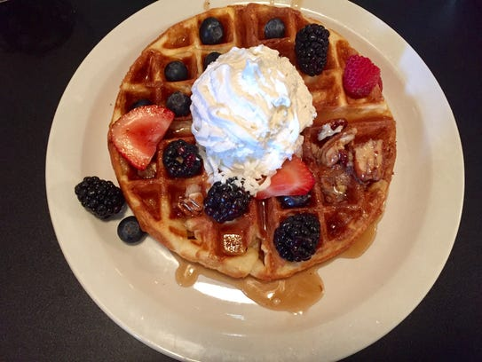A Belgian waffle from Billy's High Hat Diner on June