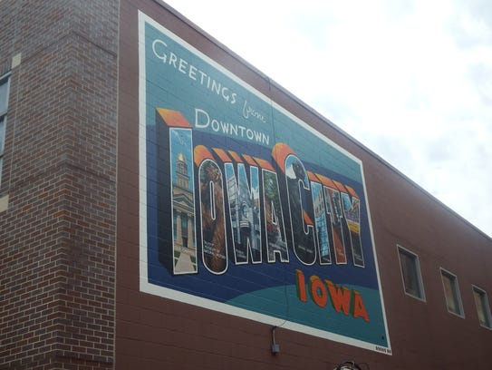 A new mural painted by Thomas Agran is shown on the