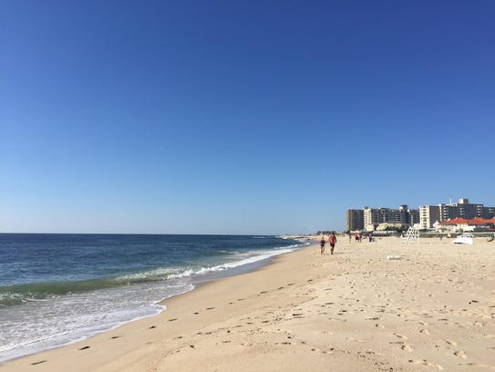 The views at West End Beach Yoga in Long Branch.