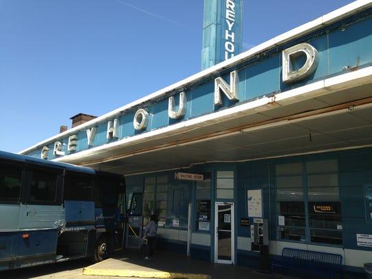 The Greyhound Bus Station in Jackson, Tenn.