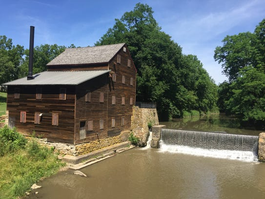 The Pine Creek Grist Mill is shown at Wildcat Den State
