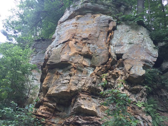 Rock outcroppings at Wildcat Den State Park in Muscatine