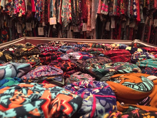 LuLaRoe merchandise is displayed at the Delaware Valley