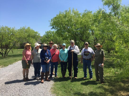 Texas Master Naturalists get ready to conduct a horned