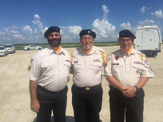Members of the Color Guard  Gary James, Hap Allston