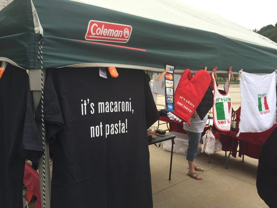 T-shirts on display at annual Italian Heritage Festival