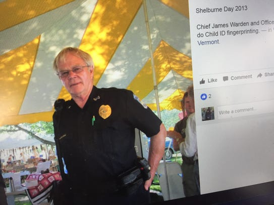 Shelburne Police Chief James Warden as seen in a photo