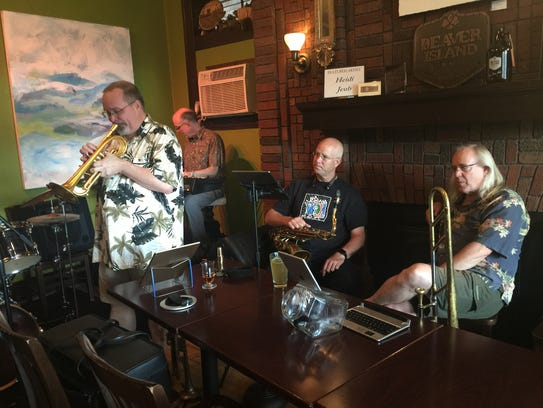 A group known as Monday Night Jazz begins its free