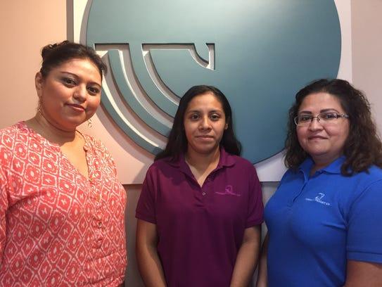 Ada Ayala (from left), Mariam Martinez and Mandy Alvarado