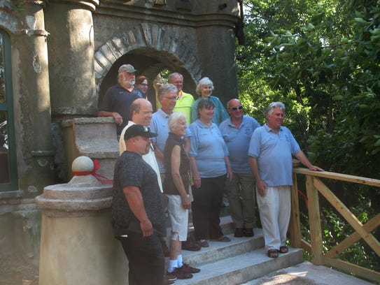 Bannerman Island officials and volunteers are shown